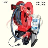 STOP&GO Elettropompa 220V con avvolgitubo, tubi, filtro 35micron e pistola automatica (40 l/min)
