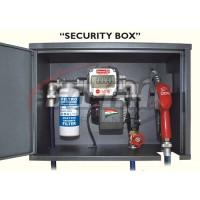 SECURITY BOX Elettropompa 220V Compl. di contalitri meccanico, filtro 30micron, tubi e pistola autom.