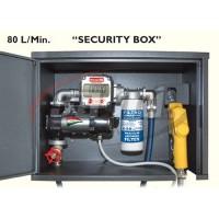 """""""SECURITY BOX"""" 12V Completa di contalitri meccanico, filtro 30micron, tubi in gomma e pistola autom."""