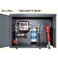"""""""SECURITY BOX"""" Elettropompa 12V Compl. di contalitri mecc., filtro 35micron, tubi e pistola autom."""